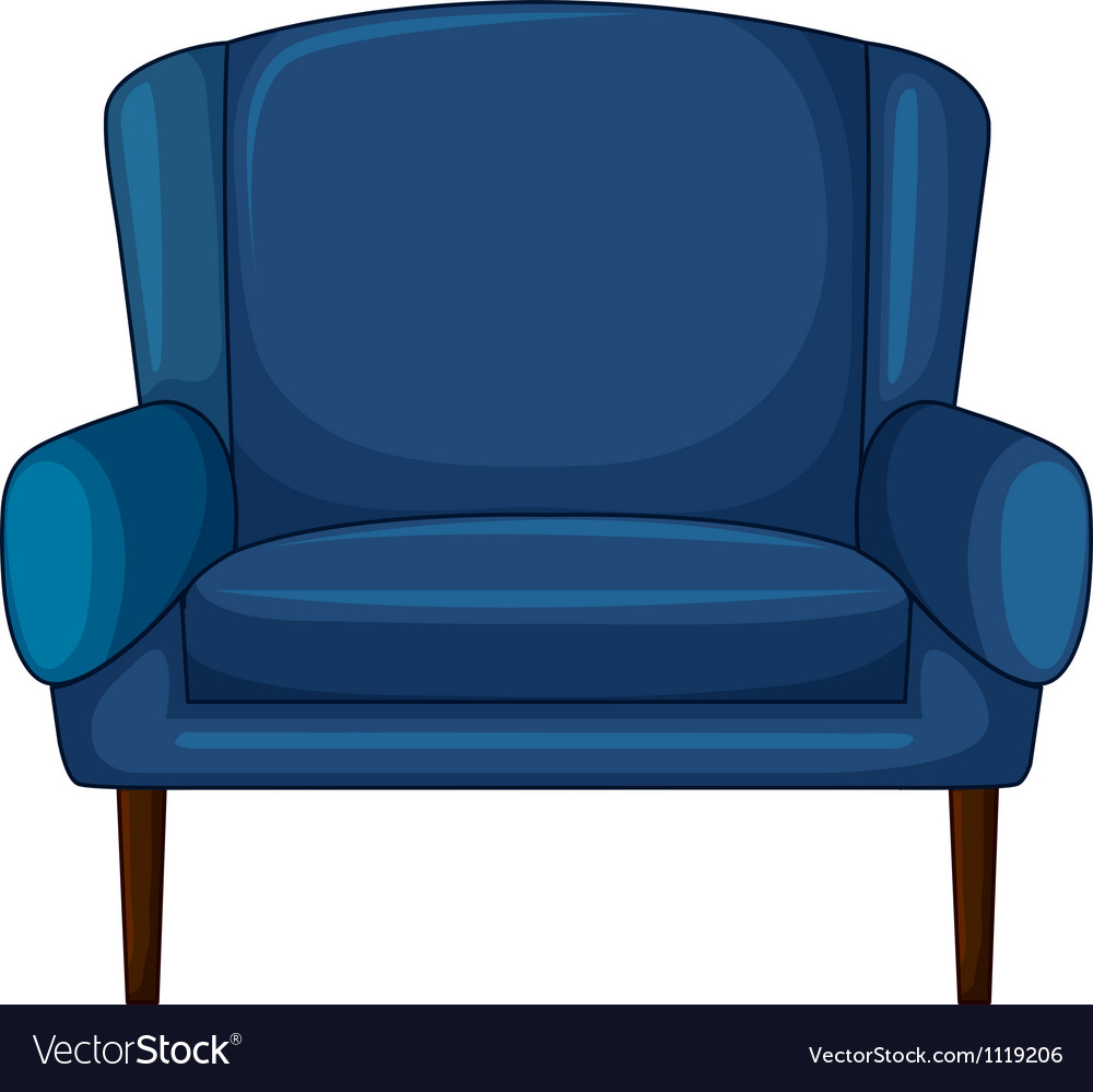 A blue cushion chair vector | Price: 1 Credit (USD $1)