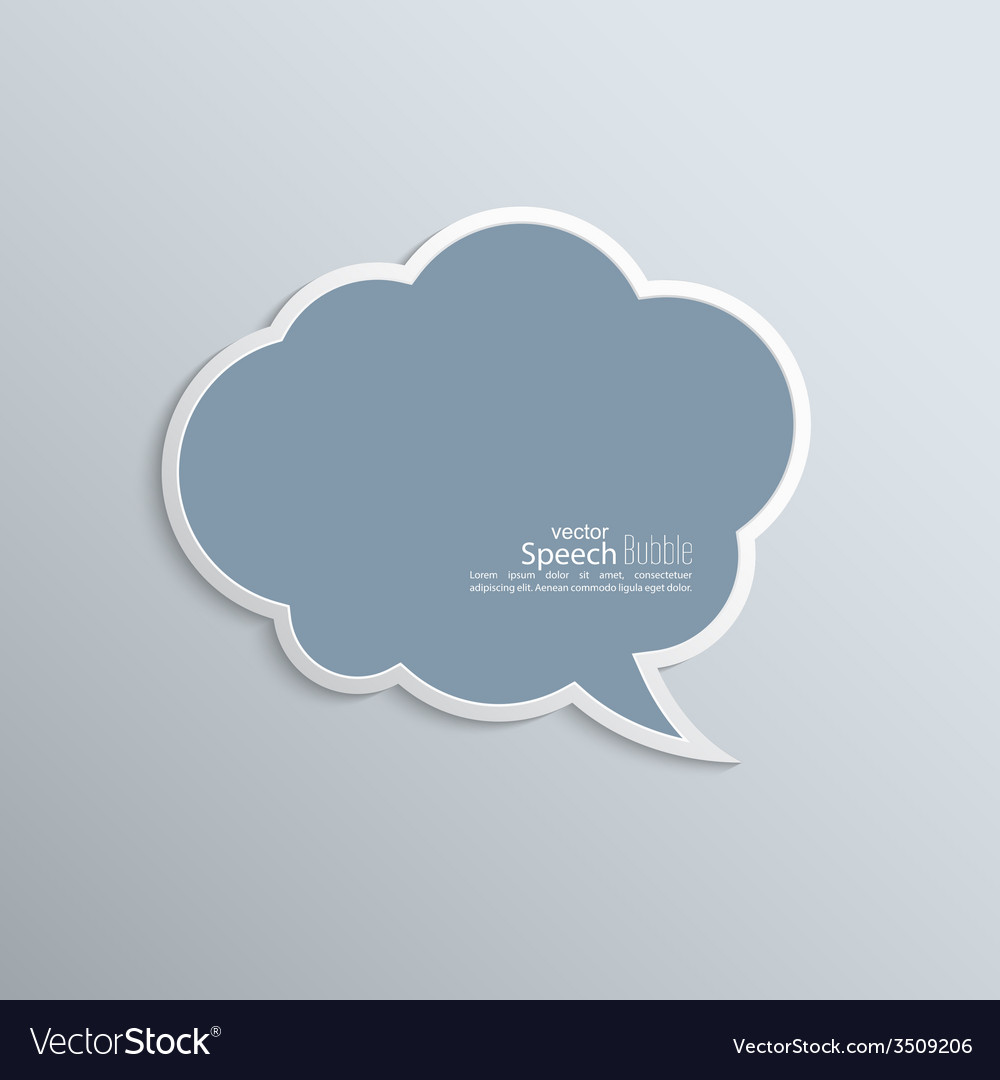 Abstract background with paper speech bubble vector | Price: 1 Credit (USD $1)