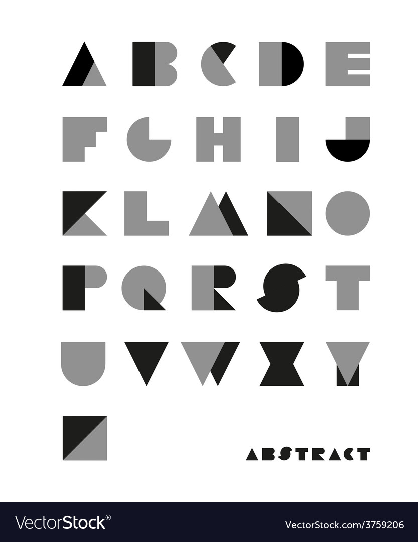 Abstract font from geometrical figures vector | Price: 1 Credit (USD $1)