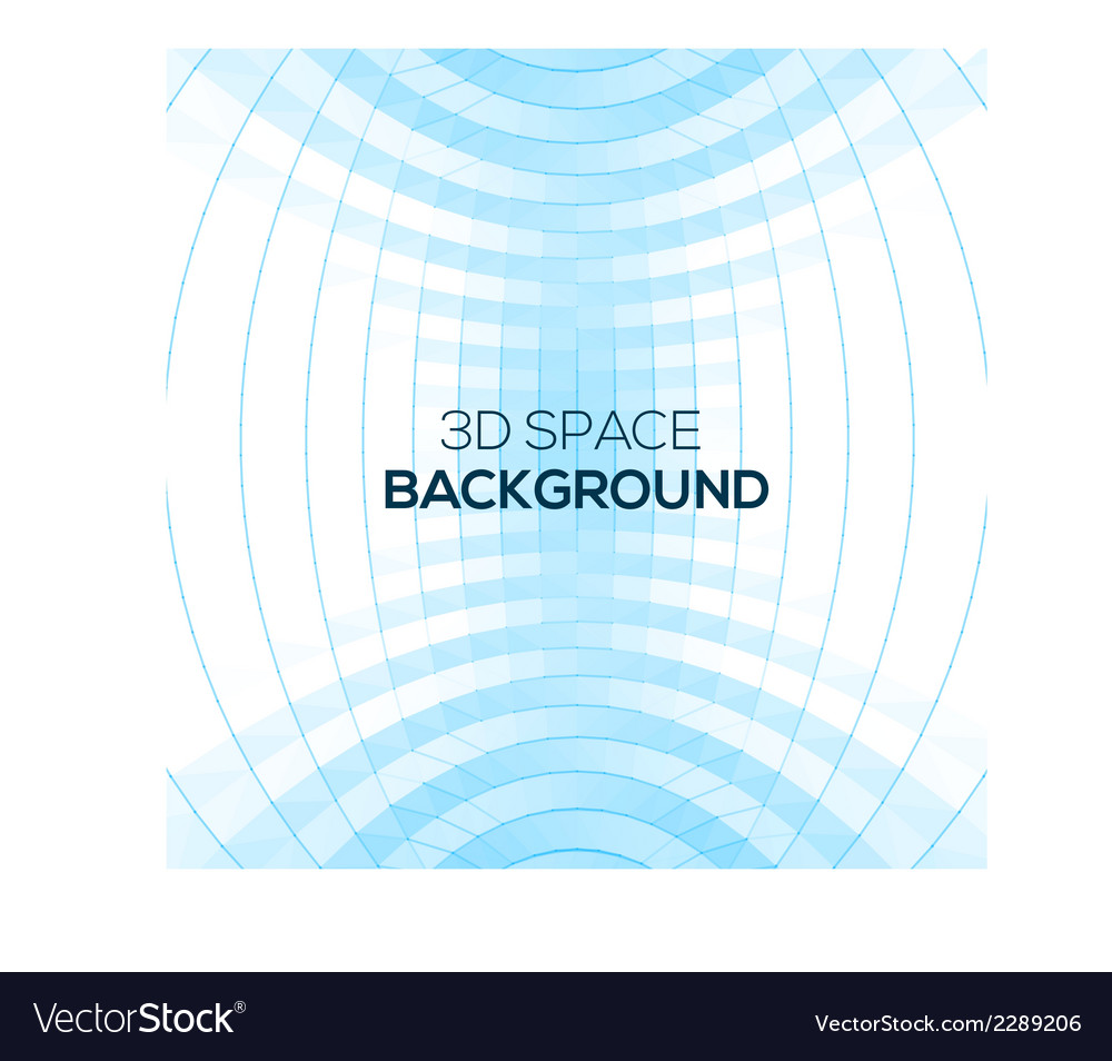 Abstract geometric background in 3d space vector | Price: 1 Credit (USD $1)