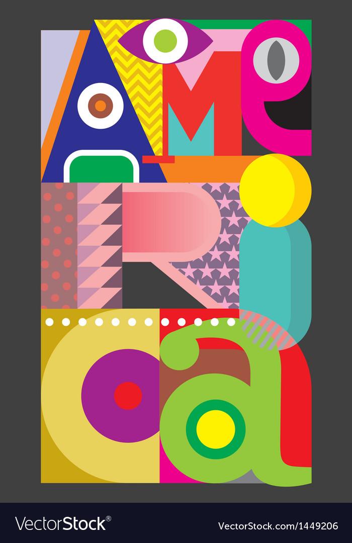 America - text design vector   Price: 1 Credit (USD $1)