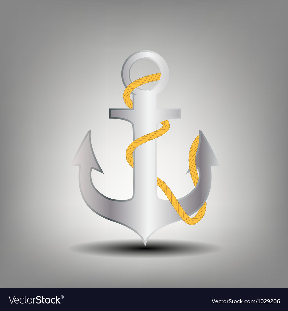 Anchor stencil icon vector | Price: 1 Credit (USD $1)