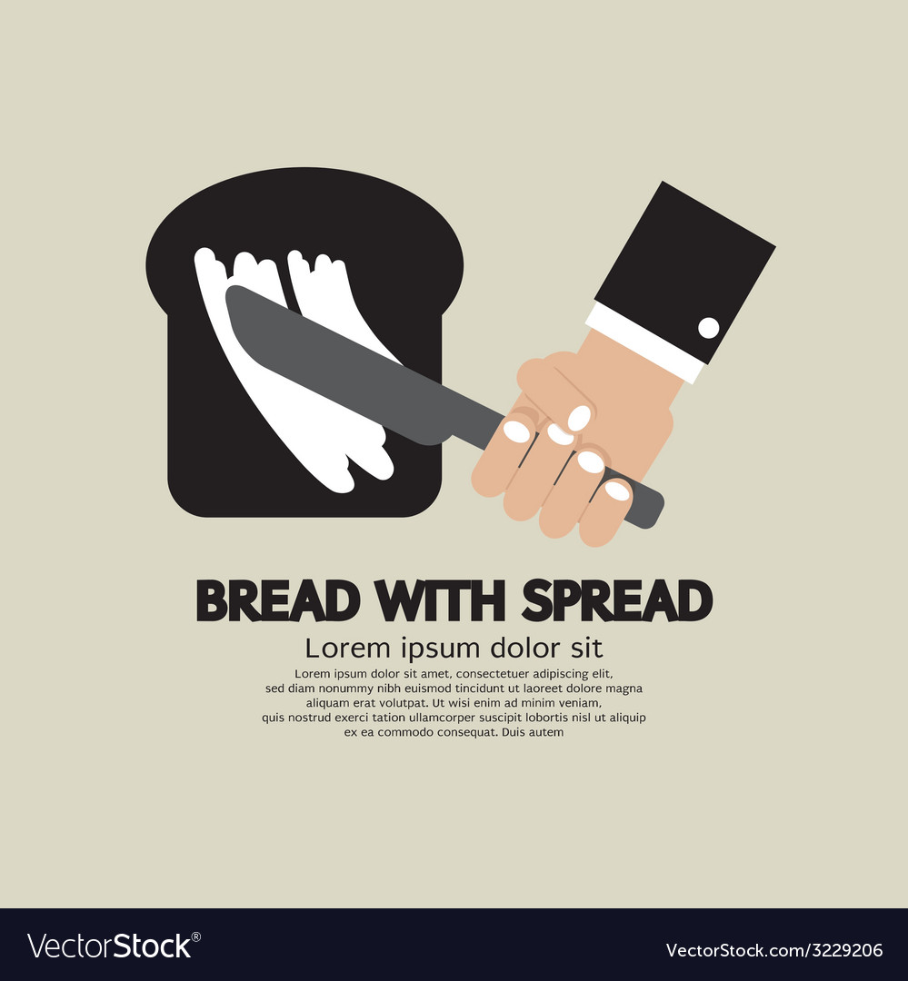 Bread with spread vector | Price: 1 Credit (USD $1)
