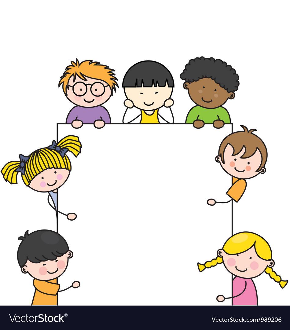 Cute cartoon kids frame vector | Price: 3 Credit (USD $3)