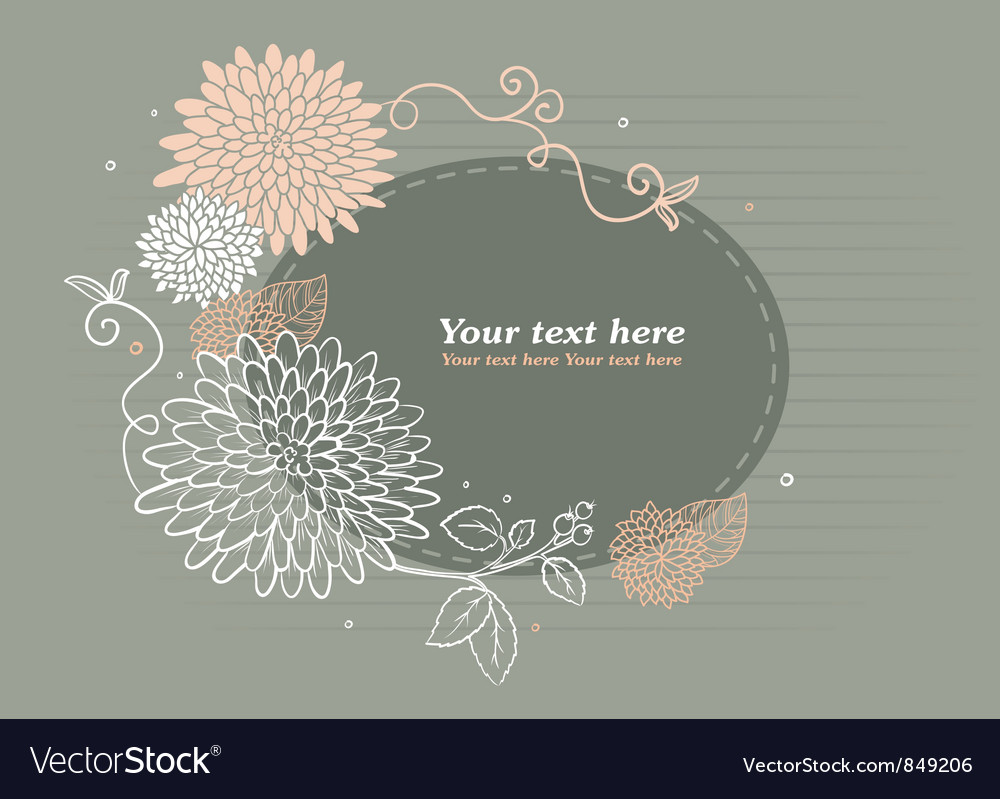 Flower back vector | Price: 1 Credit (USD $1)