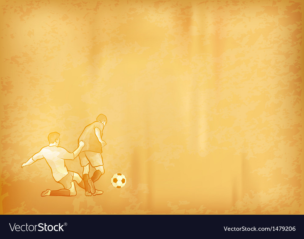 Football old background vector | Price: 1 Credit (USD $1)