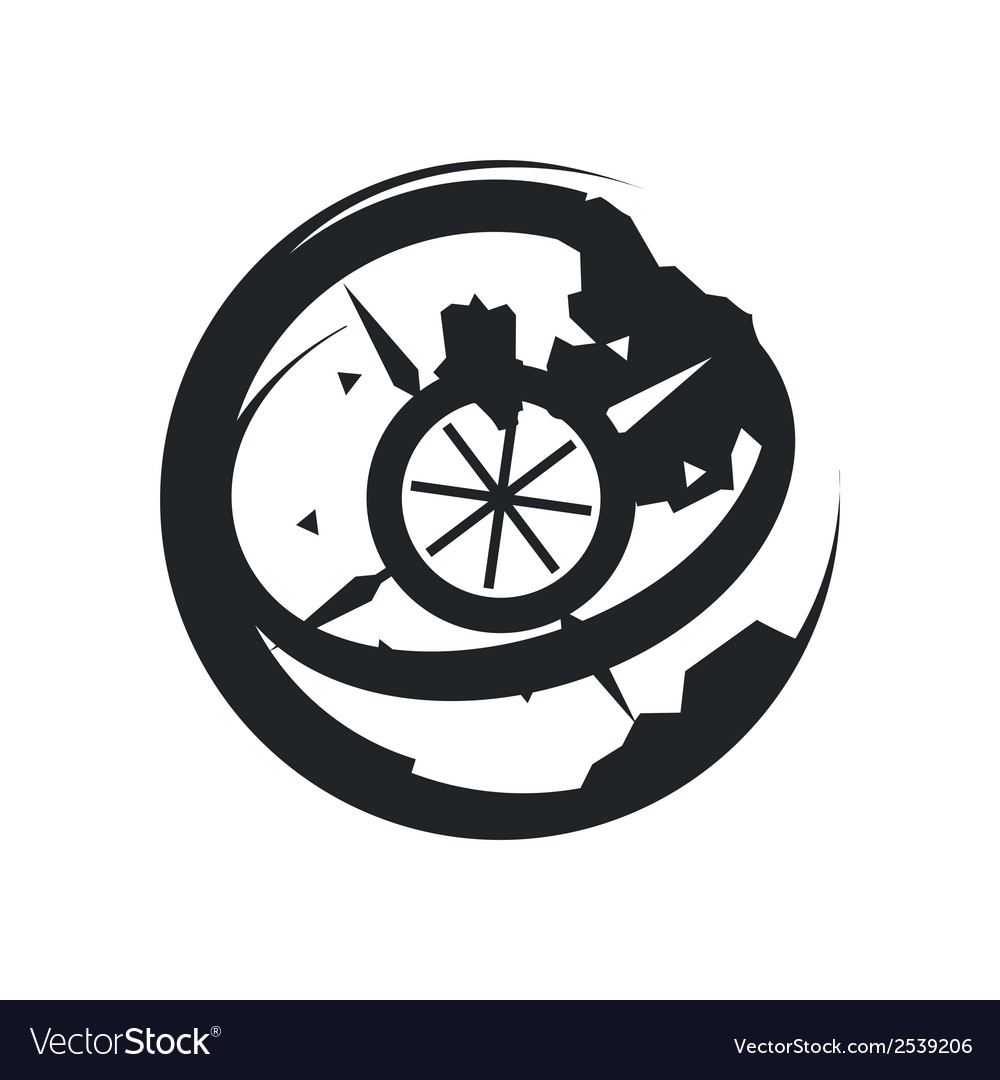 Globe with wind rose vector | Price: 1 Credit (USD $1)