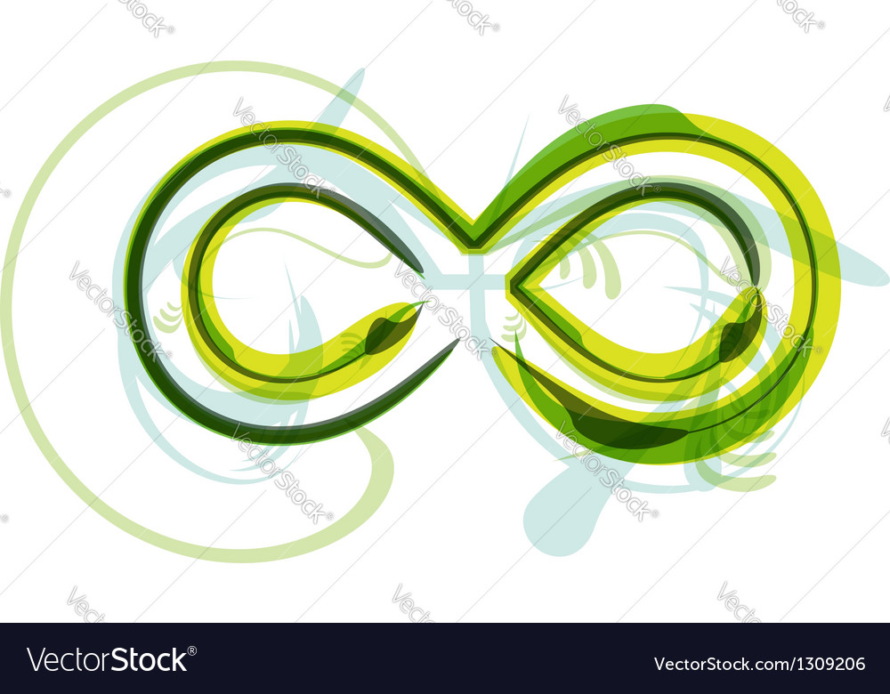 Green letter symbol vector | Price: 1 Credit (USD $1)