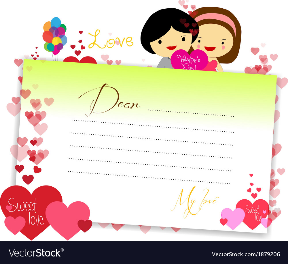 Letterhear for valentines yeallow vector | Price: 1 Credit (USD $1)