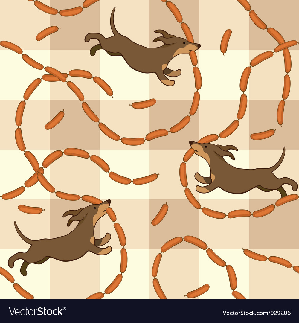 Lucky dogs with sausages vector | Price: 1 Credit (USD $1)