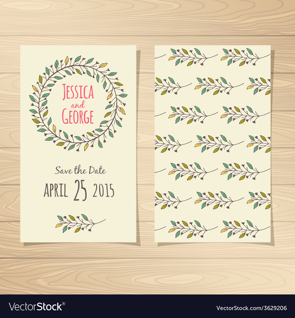 Save the date cards vector | Price: 1 Credit (USD $1)