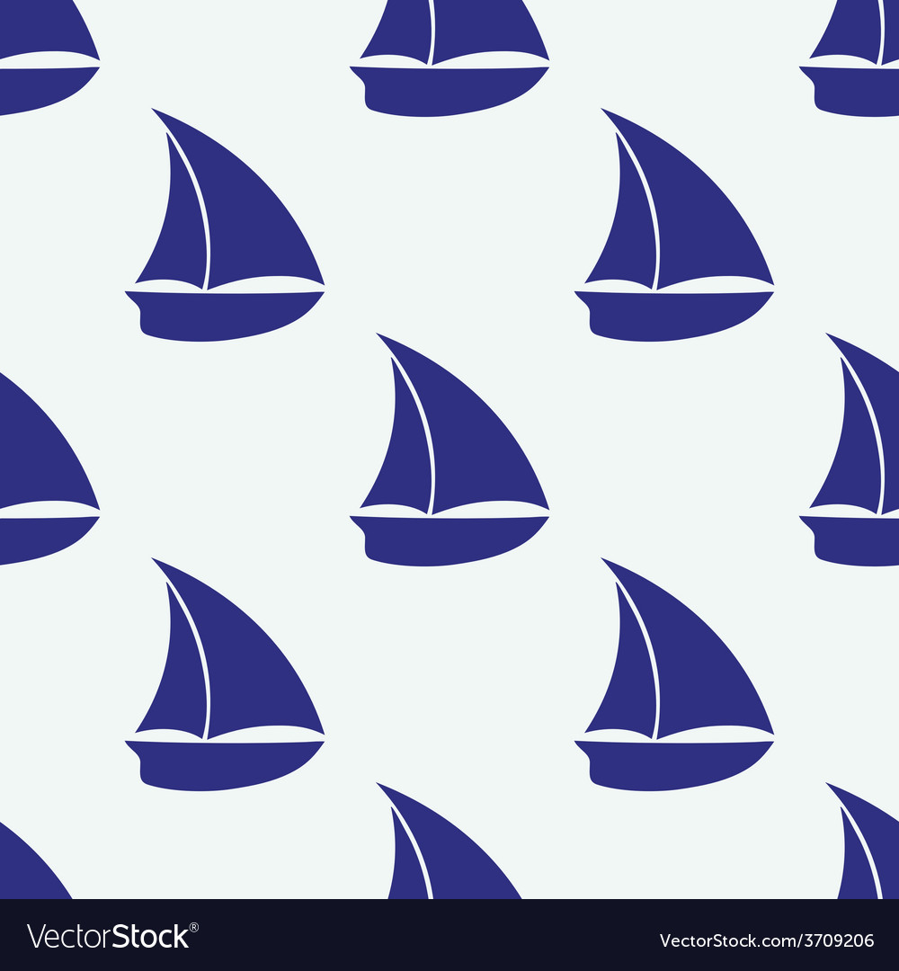 Seamless pattern with sea elements ship vector | Price: 1 Credit (USD $1)