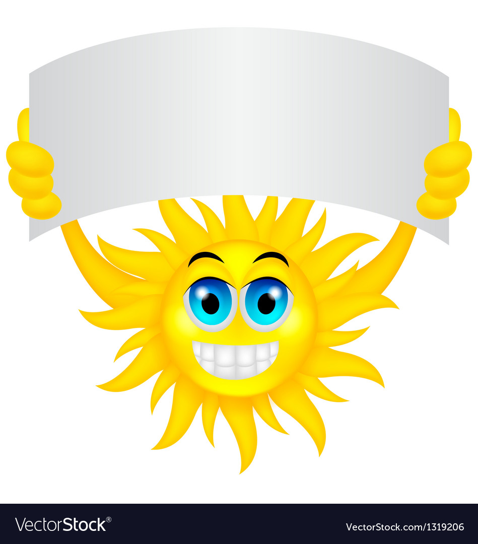 Sun with sign vector | Price: 1 Credit (USD $1)
