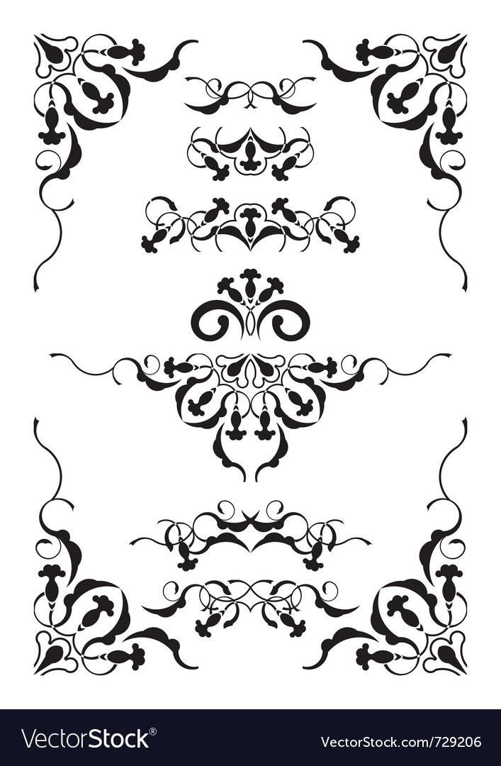 Symmetric vignettes vector | Price: 1 Credit (USD $1)