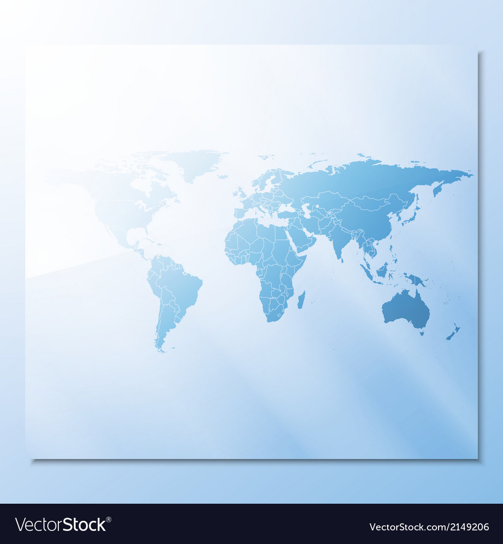 Transparent world map abstract background vector | Price: 1 Credit (USD $1)