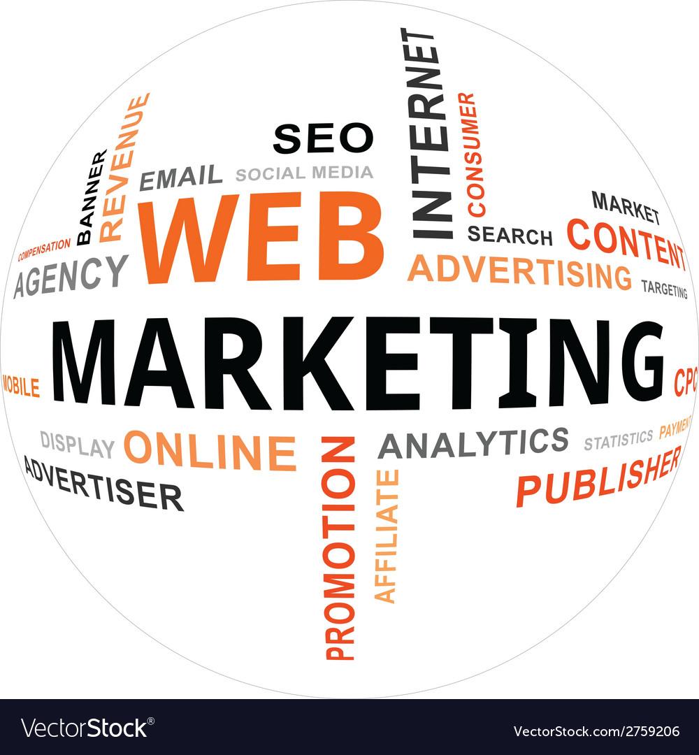 Word cloud web marketing vector | Price: 1 Credit (USD $1)