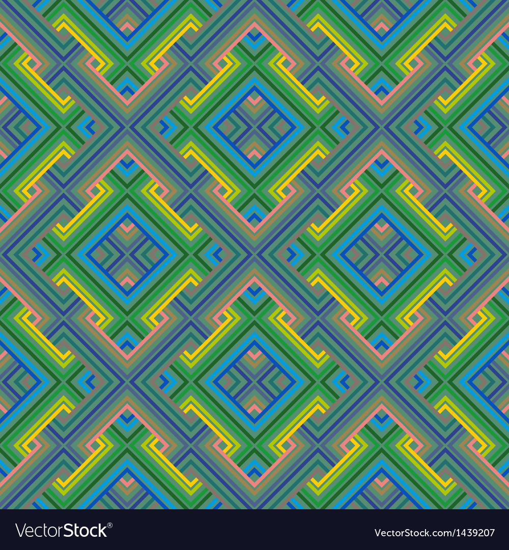 Abstract ethnic seamless geometric pattern vector | Price: 1 Credit (USD $1)