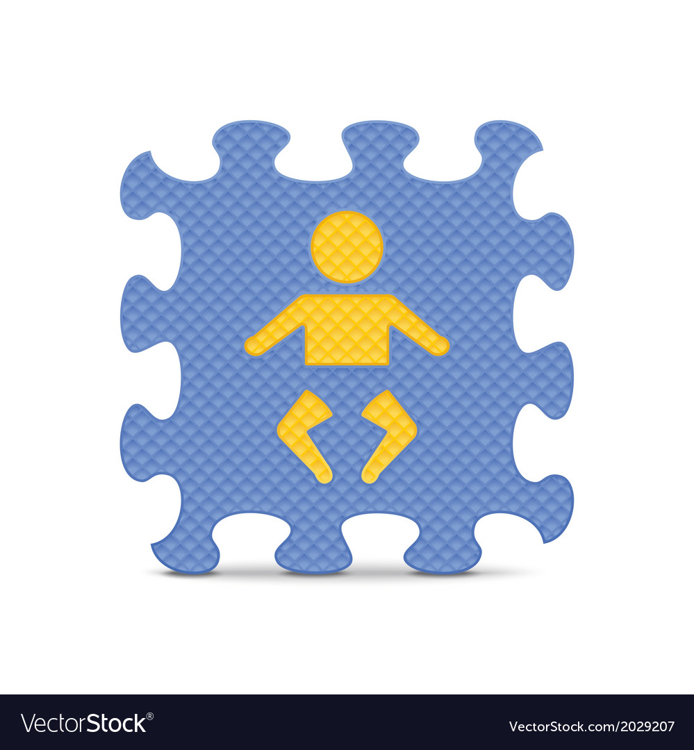 Baby sign made with alphabet puzzle vector | Price: 1 Credit (USD $1)