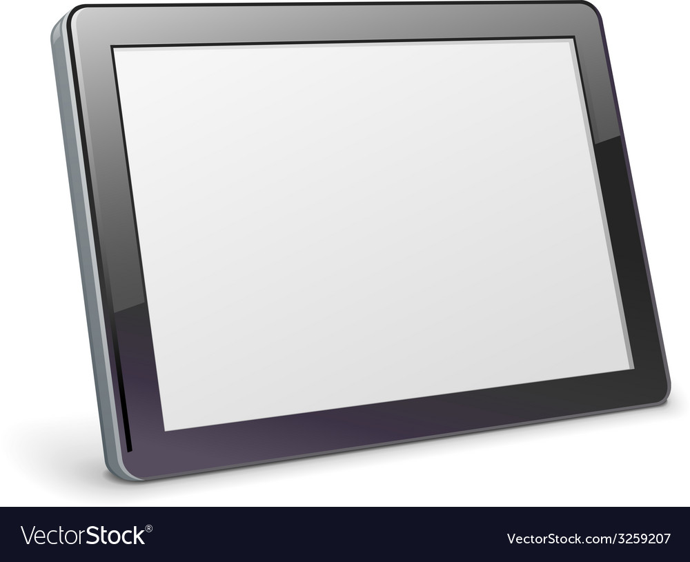 Blank tablet vector | Price: 1 Credit (USD $1)