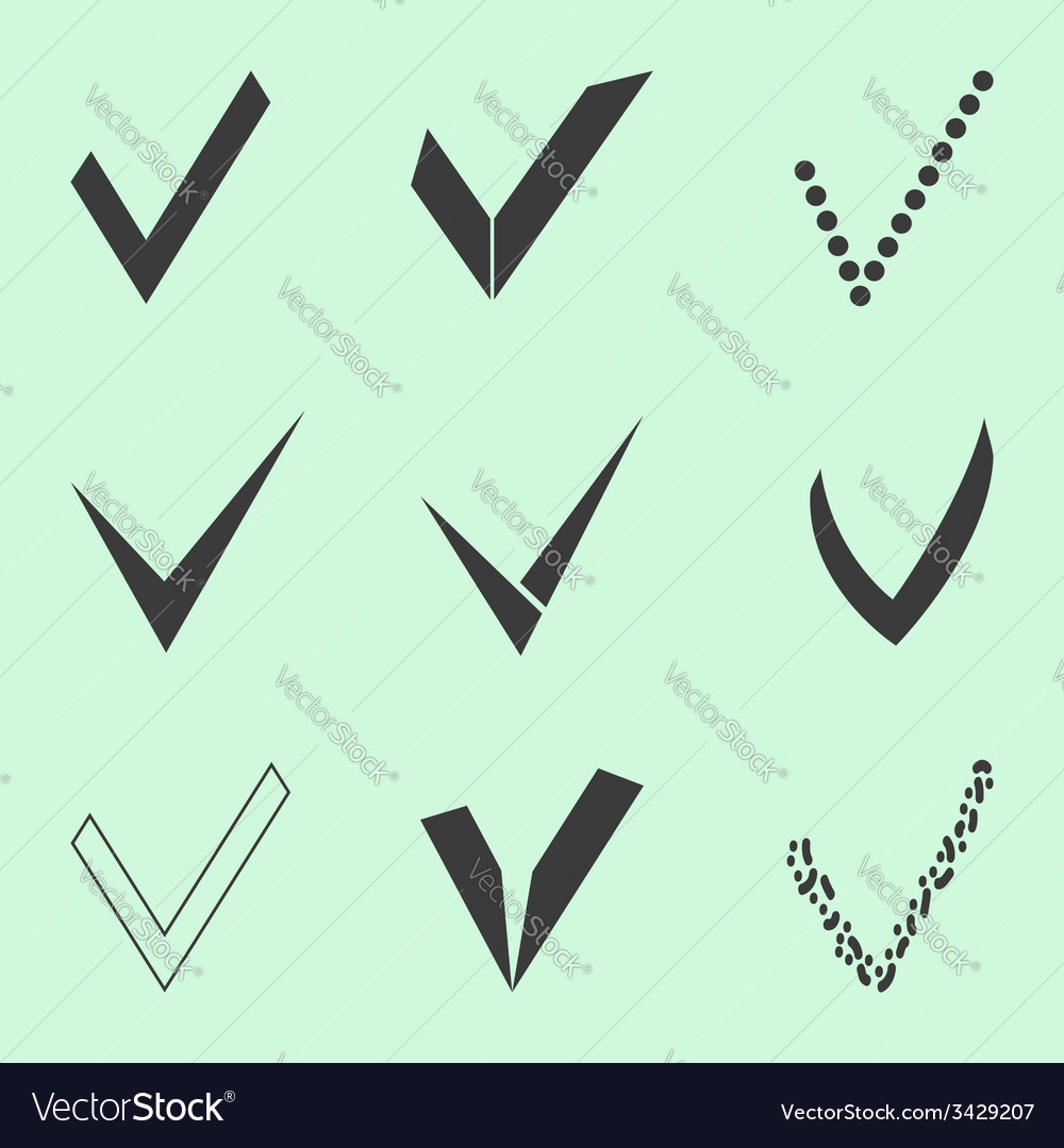 Confirm icons set vector | Price: 1 Credit (USD $1)