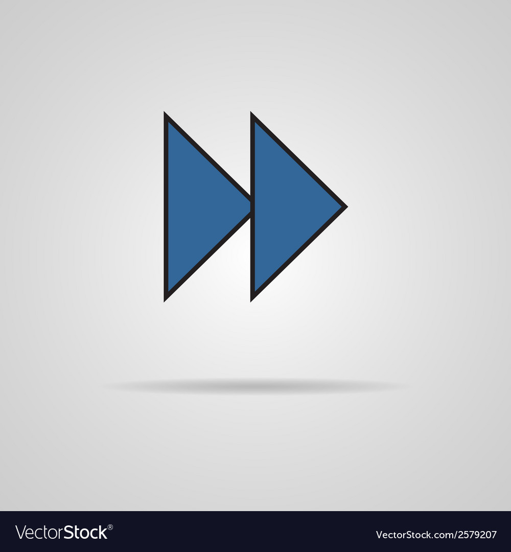 Forward or skip icon with shadow media player vector | Price: 1 Credit (USD $1)