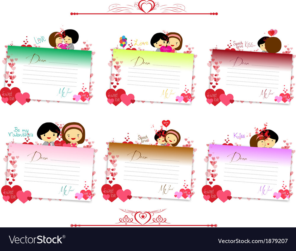 Letterhear for valentines set vector | Price: 1 Credit (USD $1)
