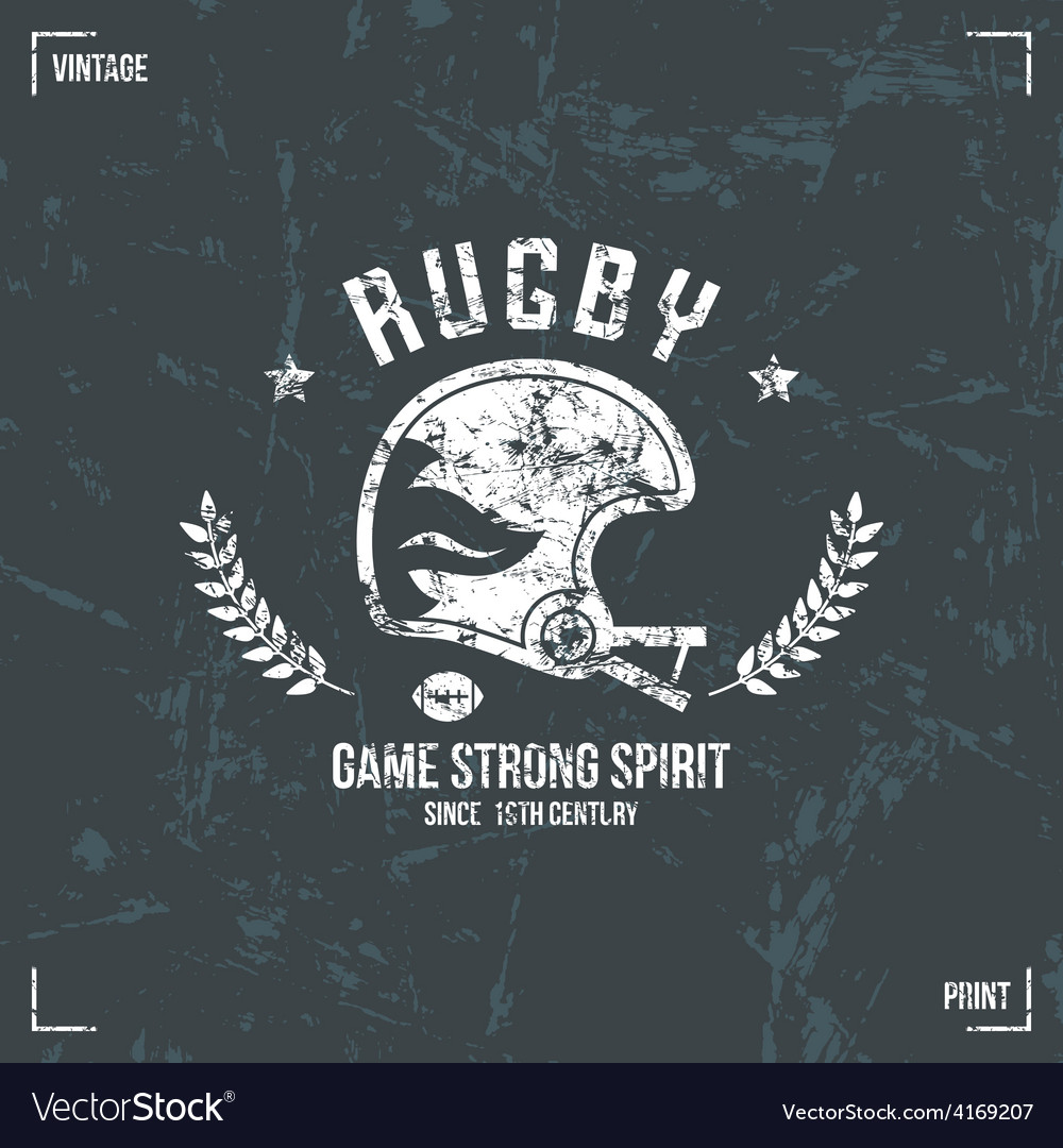 Rugby team helmet emblem vector | Price: 1 Credit (USD $1)