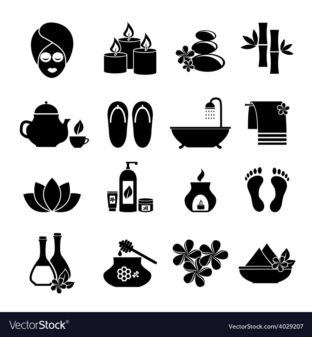 Set of icons for spa vector | Price: 1 Credit (USD $1)