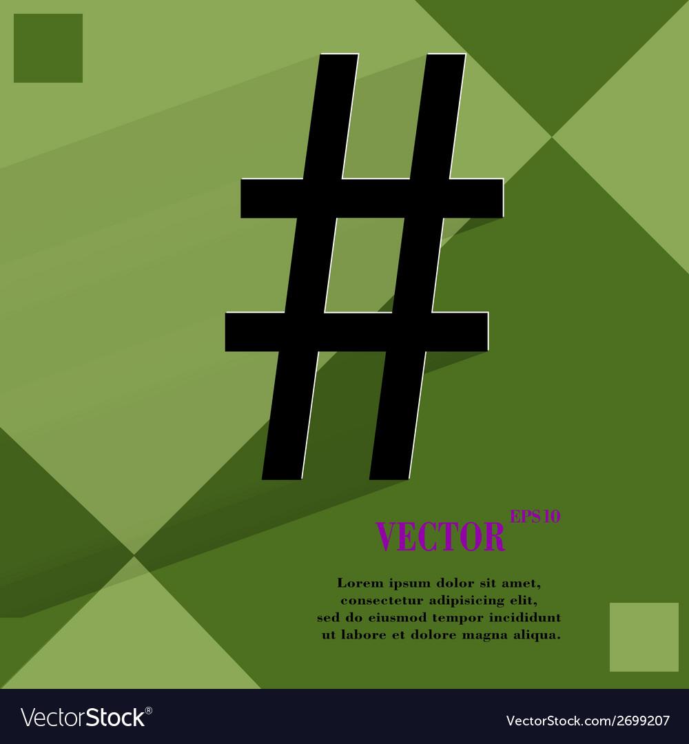 Sharp flat modern web design on a flat geometric vector | Price: 1 Credit (USD $1)