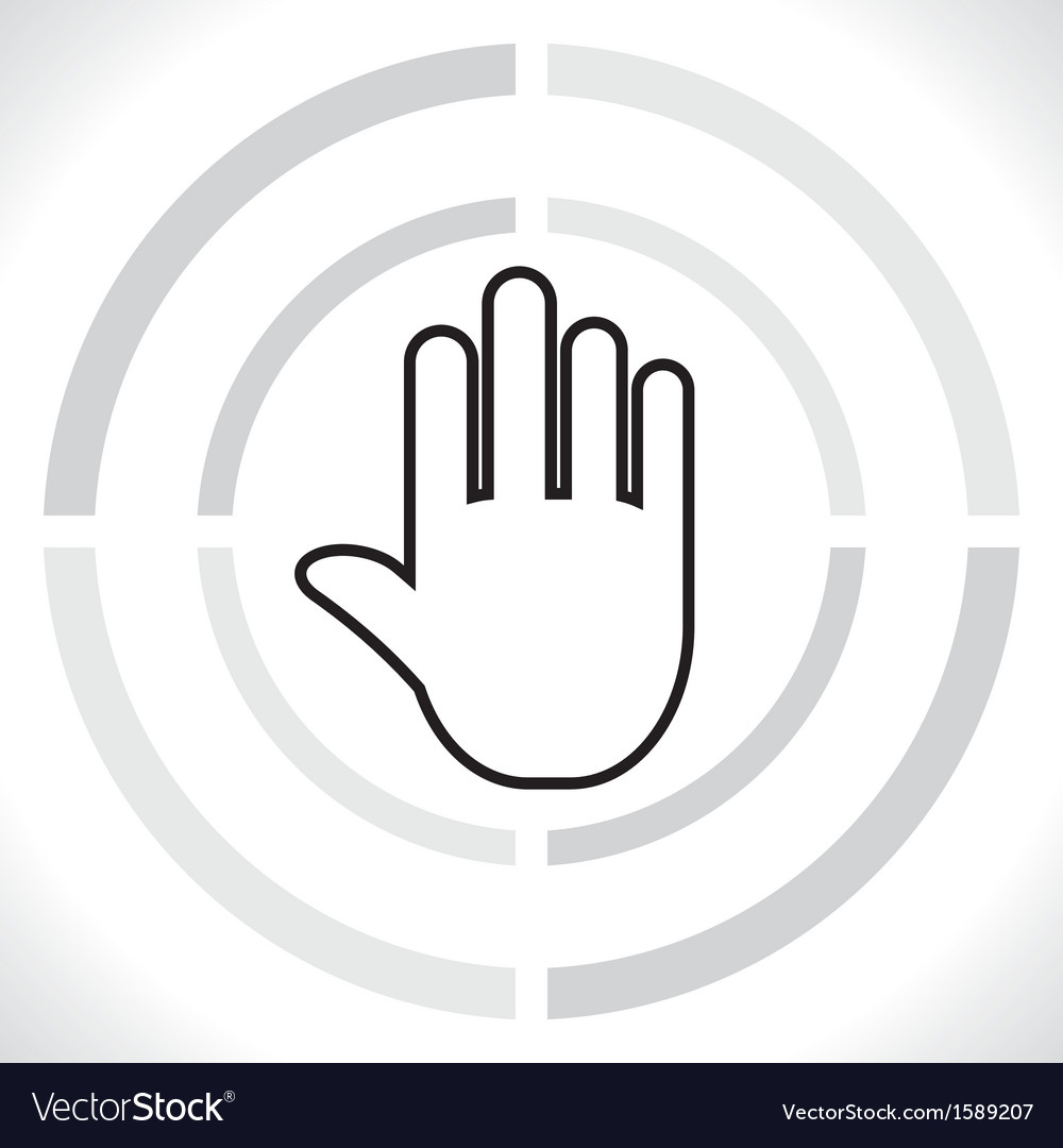 Stop icon hand vector | Price: 1 Credit (USD $1)