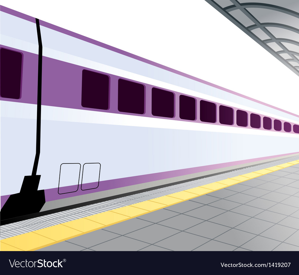 Train platform background vector | Price: 1 Credit (USD $1)