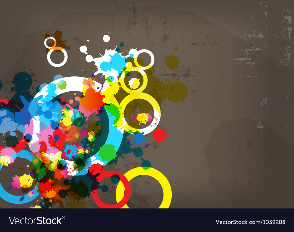 Abstract colorful design on grunge background vector | Price: 1 Credit (USD $1)