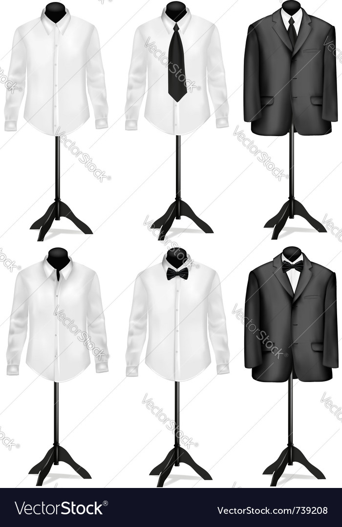 Black suit and white shirt with necktie vector | Price: 3 Credit (USD $3)