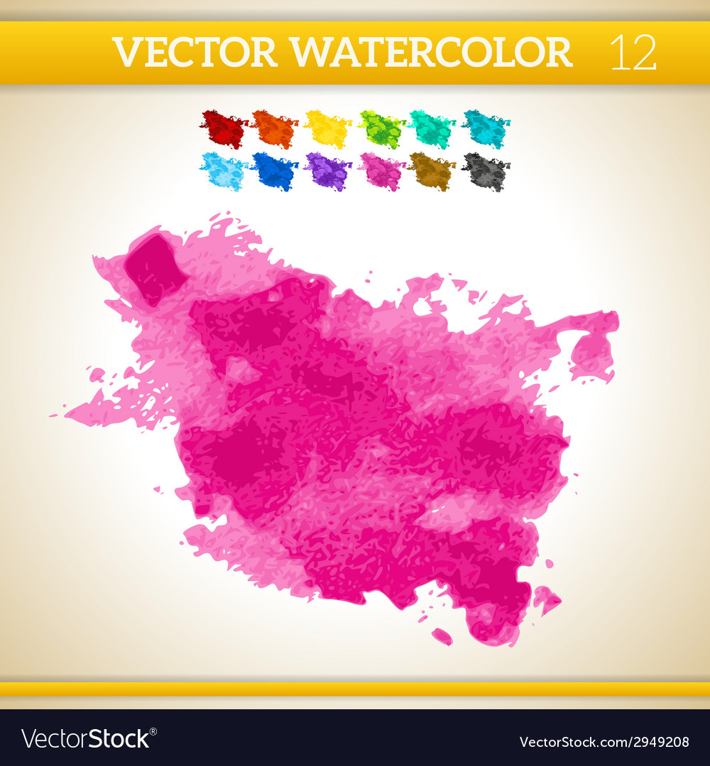 Bright pink watercolor artistic splash for design vector | Price: 1 Credit (USD $1)