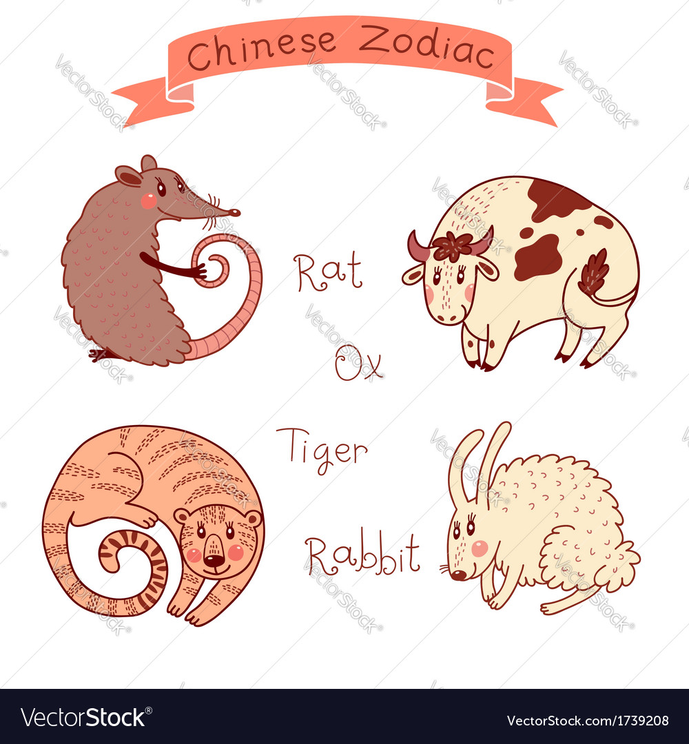 Chinese zodiac - rat vector | Price: 1 Credit (USD $1)