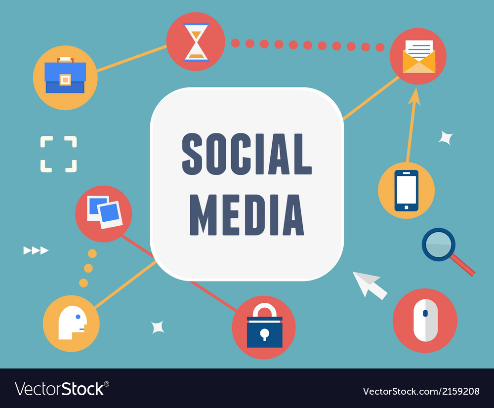 Concept of social media vector | Price: 1 Credit (USD $1)