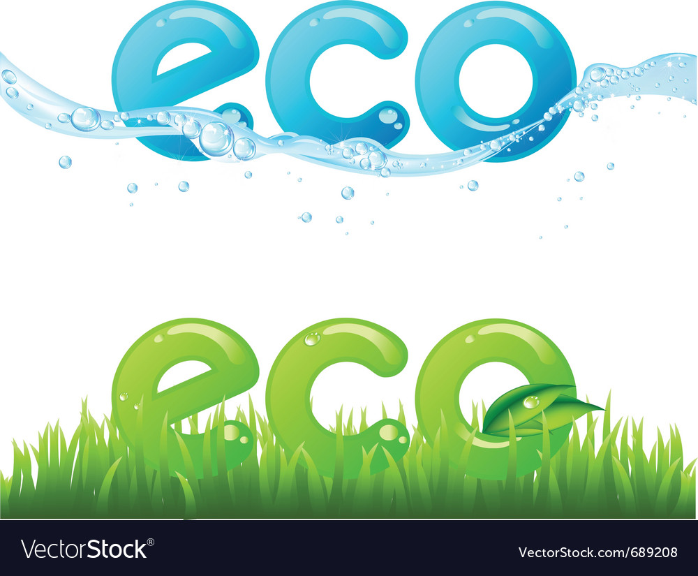 Eco set vector | Price: 1 Credit (USD $1)
