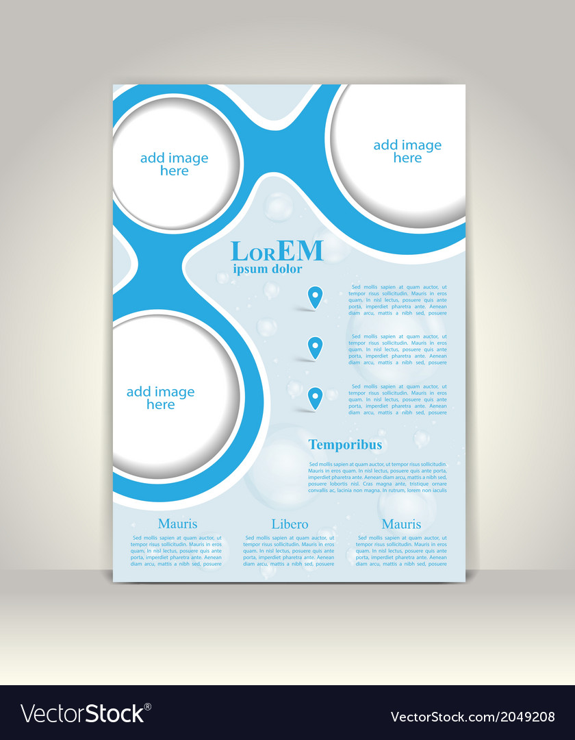 Flyer brochure or magazine cover template vector | Price: 1 Credit (USD $1)