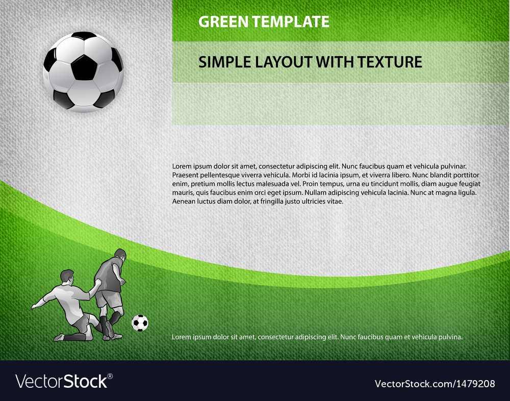Football template green curve vector | Price: 1 Credit (USD $1)
