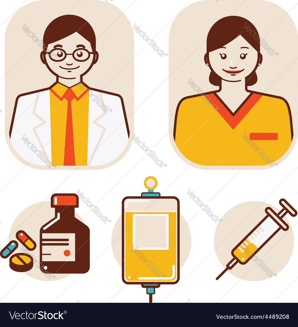 Health care and medical staff vector | Price: 1 Credit (USD $1)