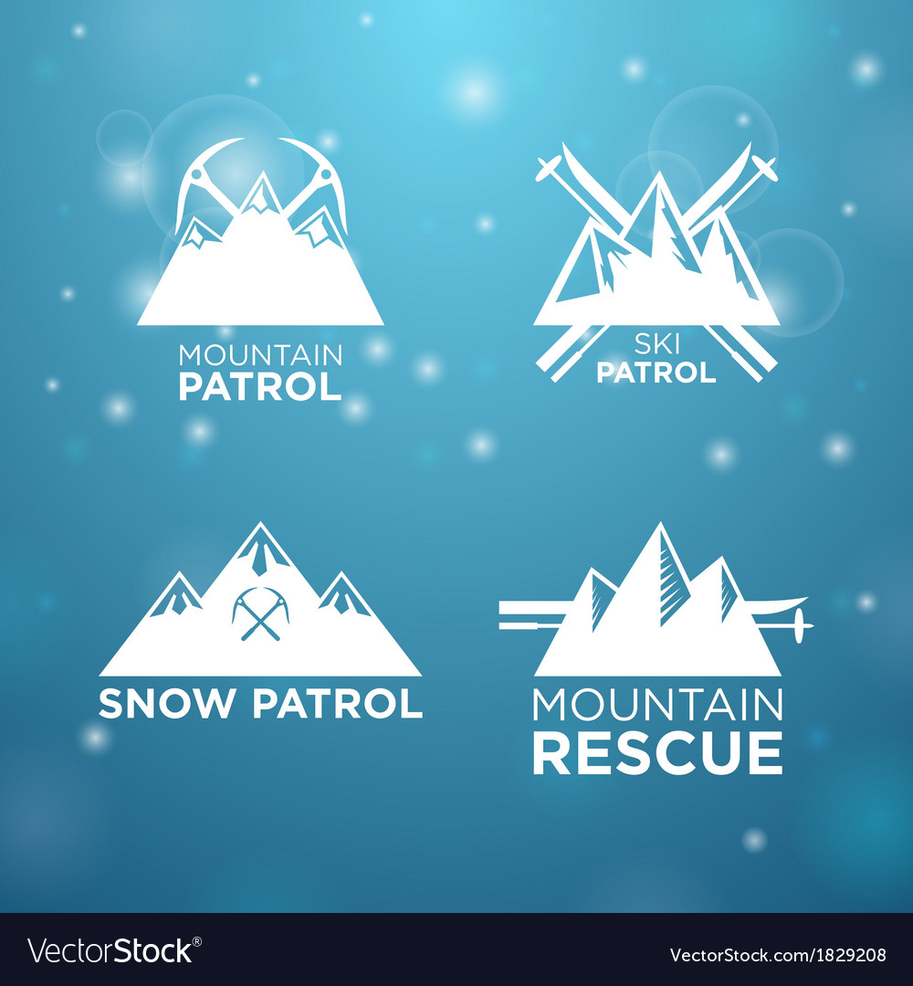 Logotype ski mounrain and snow patrol with vector | Price: 1 Credit (USD $1)