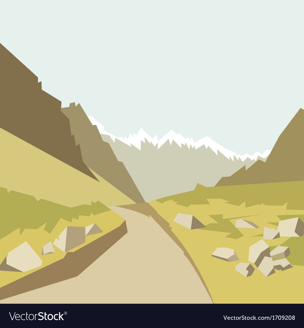 Mountains landscape background vector | Price: 1 Credit (USD $1)