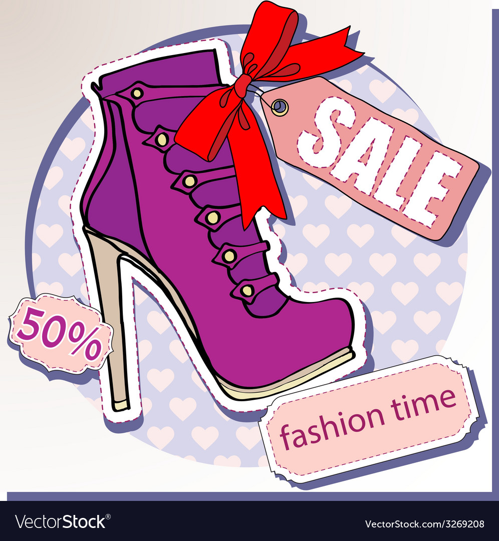 Selling shoes vector | Price: 1 Credit (USD $1)