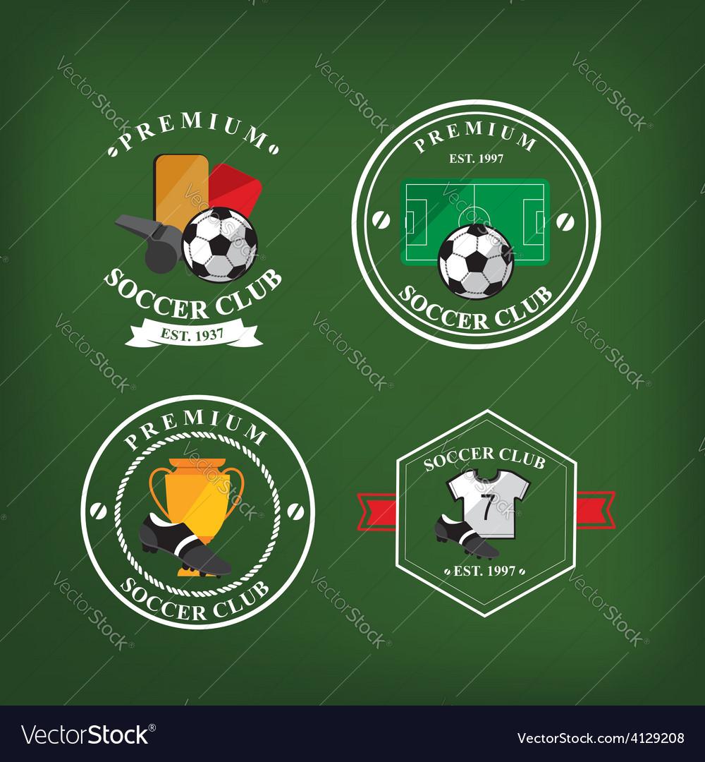 Set of soccer badge labelsemblems vector | Price: 1 Credit (USD $1)