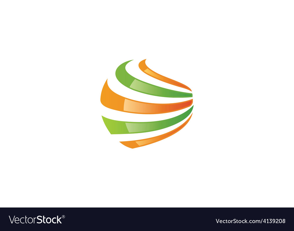Sphere abstract swirl communication logo vector | Price: 1 Credit (USD $1)