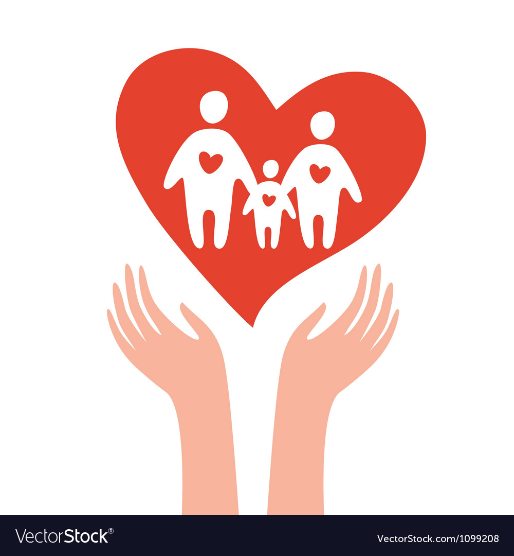 Take care of family vector | Price: 1 Credit (USD $1)