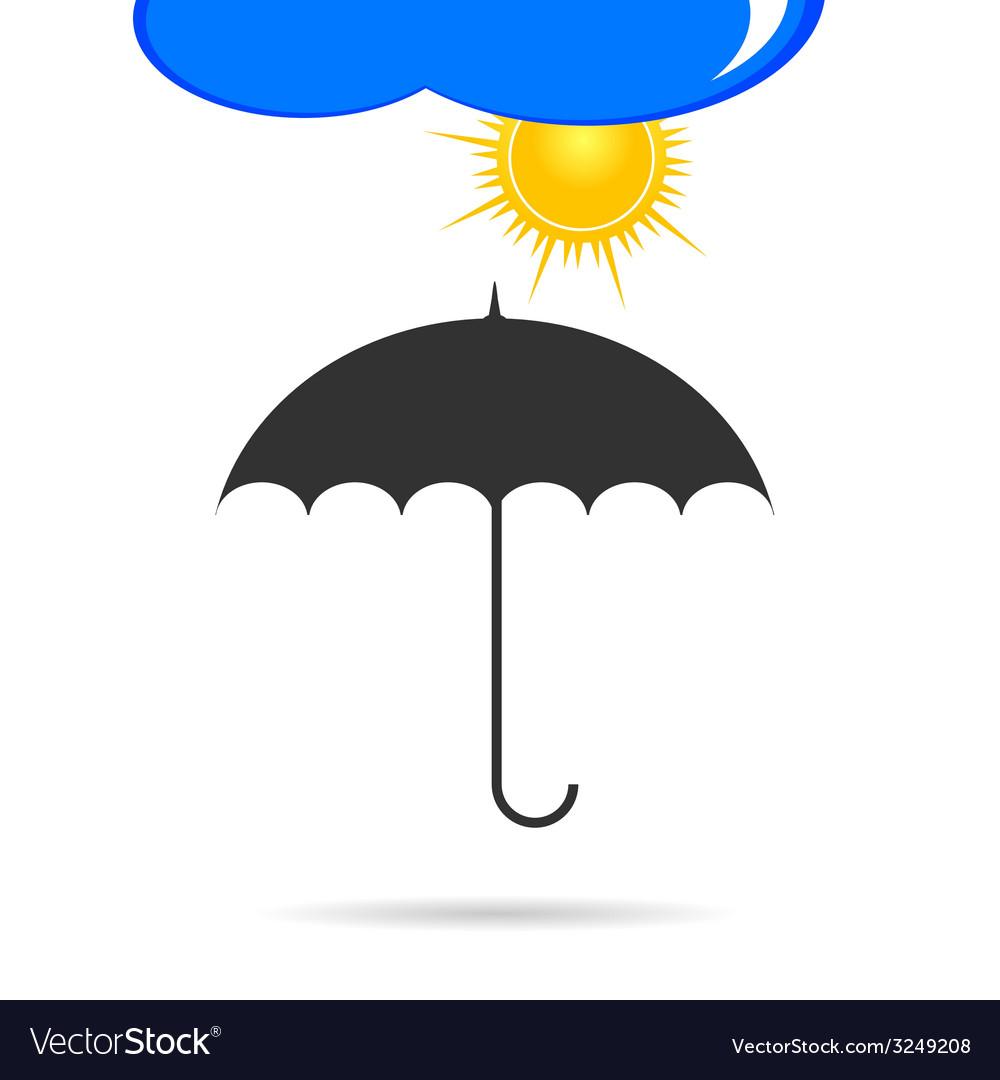Umbrella with sun color vector | Price: 1 Credit (USD $1)