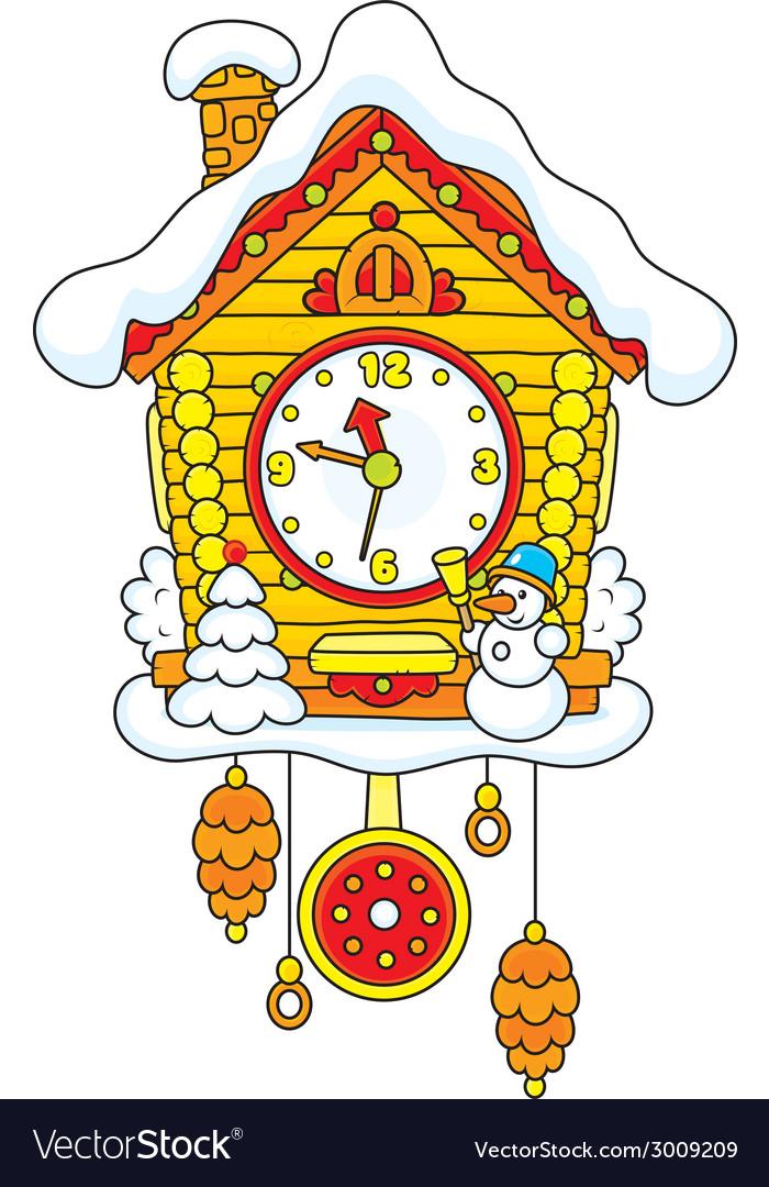 Christmas cuckoo-clock vector | Price: 1 Credit (USD $1)
