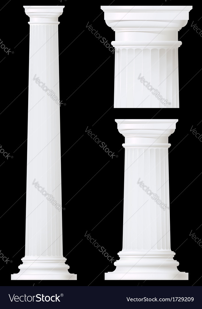 Doric column vector | Price: 1 Credit (USD $1)