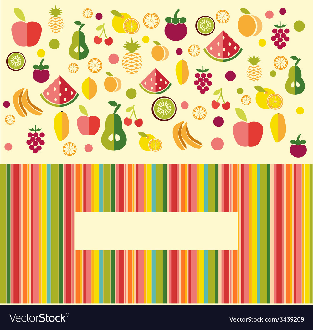 Fruits background - vector   Price: 1 Credit (USD $1)